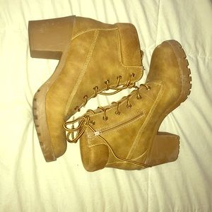 Tan colored booties!